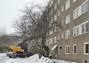 Byggmästargruppen ska konvertera förråd och tvättstuga till nio stycken nya lägenheter samt bygga tre stycken nya tvättstugor.