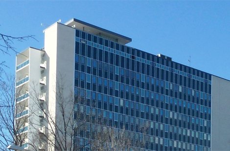 Byggmästargruppen utför ombyggnad av Byggnad 39 Danderyds sjukhus.