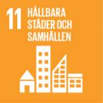 Hållbarhetsplan - Globala målen, mål 11 - Hållbara städer och samhällen.