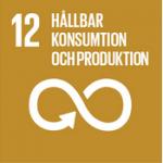 Hållbarhetsplan - Globala målen, mål 12 - Hållbar konsumtion och produktion.
