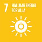 Hållbarhetsplan - Globala målen, mål 7 - Hållbar energi för alla.