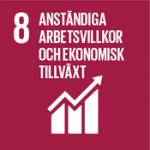 Hållbarhetsplan - Globala målen, mål 8 - Arbetsvillkor och ekonomisk tillväxt.